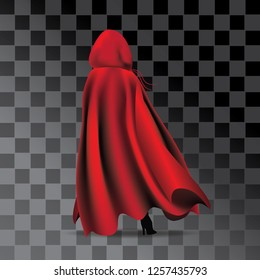 Woman wearing a red cloak and hood. Eps10 vector illustration.