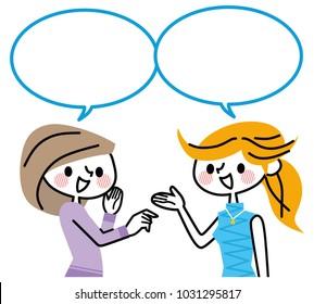 A woman who talks.