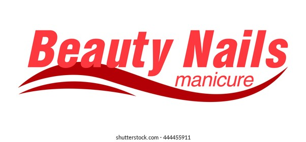Womans Beauty Nails Logo Manicure