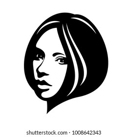 Woman's face, Illustration, Vector graphic