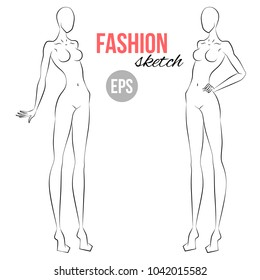 Fashion Figure Template Images Stock Photos Vectors Shutterstock