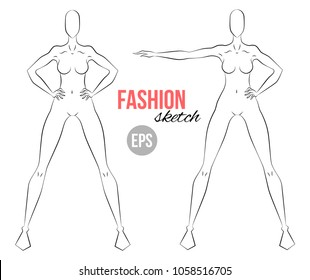 Fashion Mannequin Sketches Images Stock Photos Vectors Shutterstock