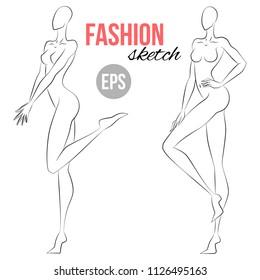 Body Sketch Images Stock Photos Vectors Shutterstock