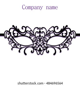 Woman's masquerade mask, beautiful party mask for poster or banner design, female carnival mask on white background