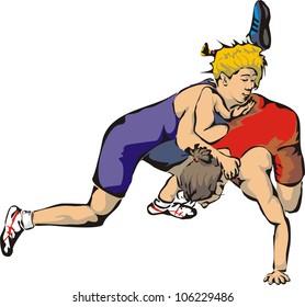 woman`s wrestling