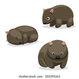 Wombat Cartoon Vector Illustration 1