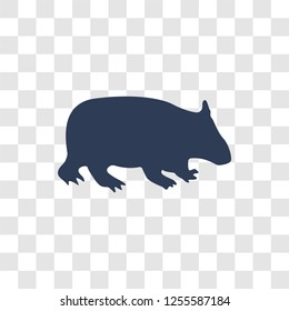 Wombat icon. Trendy Wombat logo concept on transparent background from animals   collection