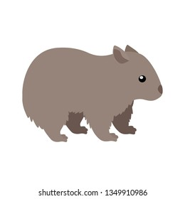 Wombat. Isolated vector illustration