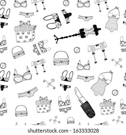 Women accessories seamless pattern