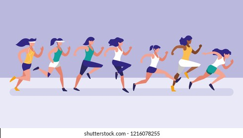 women athlete running avatar character