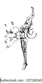 women in butterflies in the stomach