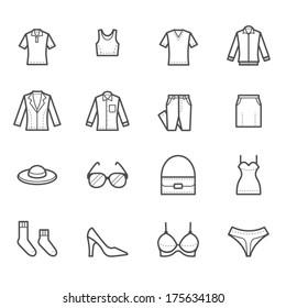 Women Clothing Icons
