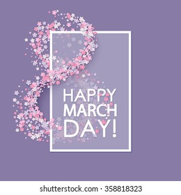 Women day background with flowers