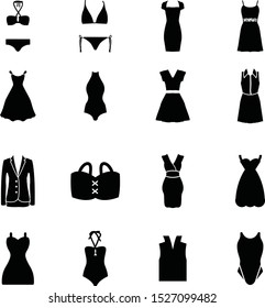 women dress collection in one background