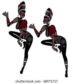 Women in ethnic style show religious dance