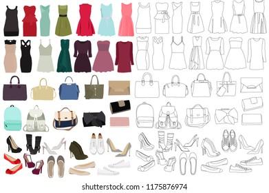 women, fashion clothes, set