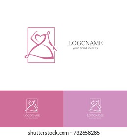 women fashion icon logo