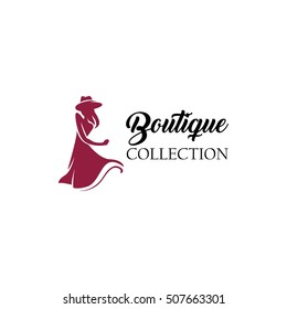 Women fashion logo design template