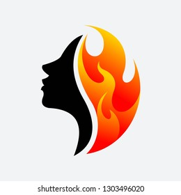 Women and Fire vector
