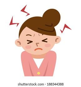 Women frustrated by stress