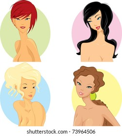 Women with hairstyle based on their personality.