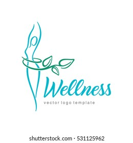 Women health and wellness vector logo design template.