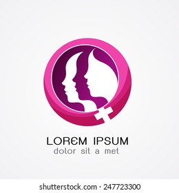 women logo.- vector illustrator