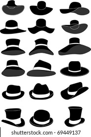 Women and men hat collection