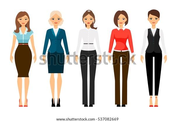 27ae0c4a8997 Women Office Dress Code Clothes Icons Stock-Vektorgrafik (Lizenzfrei ...
