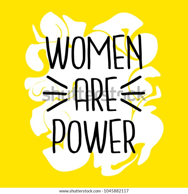 Women Power Poster Womens Day Quote Stock Vector (Royalty ...