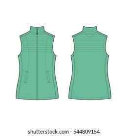 Women Puffer Jacket Template