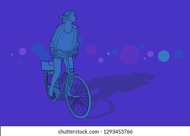 Women riding a bicycle
