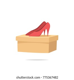 Women shoes with box vector