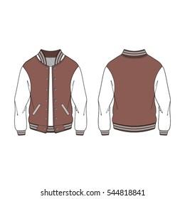 women sport varsity jacket template stock vector royalty free