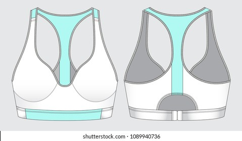 Women sports bra top. design for sports wear, easily editable by layers.