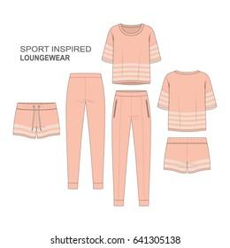 Women Sporty Lounge Wear Fashion Set