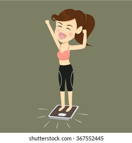Women success lose weight.