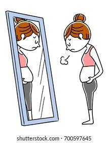 Women suffering from obesity