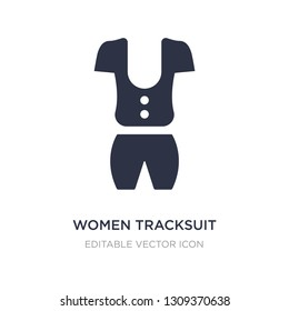 women tracksuit icon on white background. Simple element illustration from Fashion concept. women tracksuit icon symbol design.