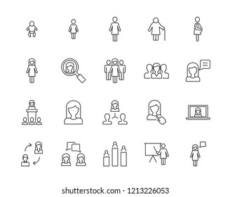 Women vector icons