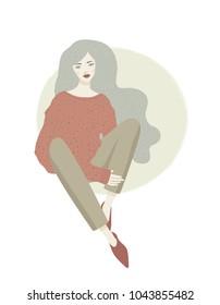 Women. Vector illustration. Fashion illustration.