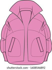 Women wear trendy puffed coat