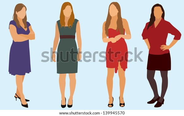 Women Wearing Dress