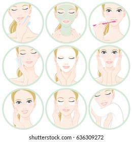 Women who do skin care