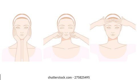 Women who massage the face