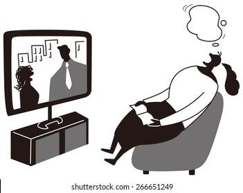 Women who sleep while watching TV