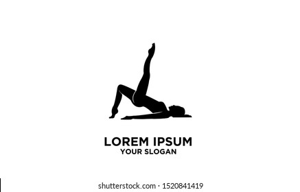 women yoga logon icoo0n design vector
