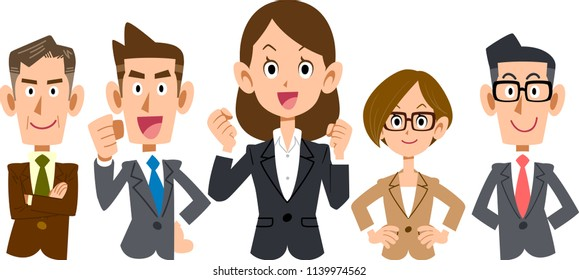 Women-centered business team _ upper body