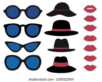 Women's accessory  icon vector illustration set