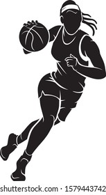 Women's Basketball, Active Sport Silhouette